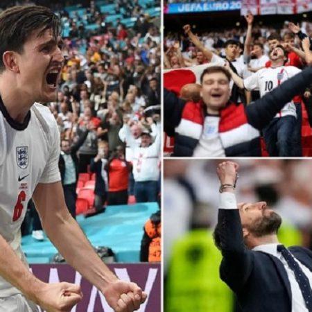 Cổ động viên Anh bạo loạn trong trận đấu Anh thắng Ukraine ở tứ kết Euro